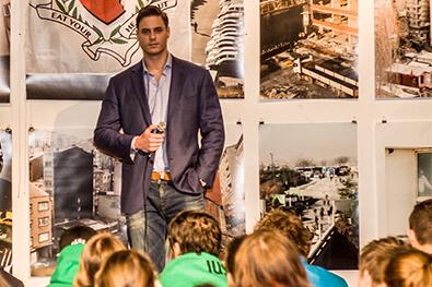Maurice van der Wardt tijdens presentatie
